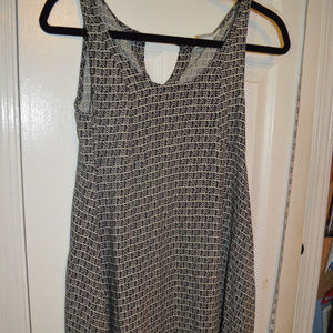 H & M Black & White Patterned  Sleeveless Sundress